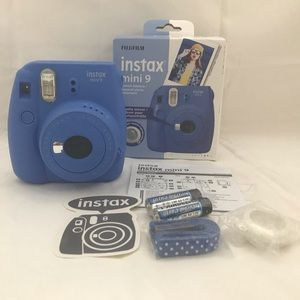 Brand new Instax Mini 9 Cobalt Blue.
